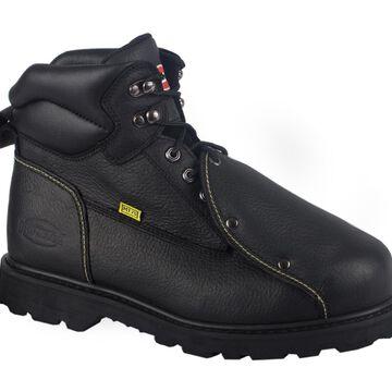 "Iron Age Men's Ground Breaker 6"" Steel Toe External Metatarsal Boot #IA5016 Wide Width Available - Black"