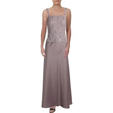 Alex Evenings Womens Evening Dress Lace Sleeveless