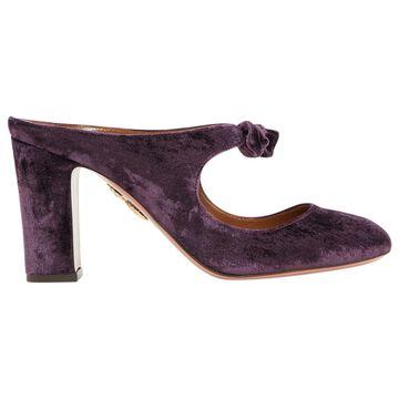 Aquazzura Purple Cloth Sandals