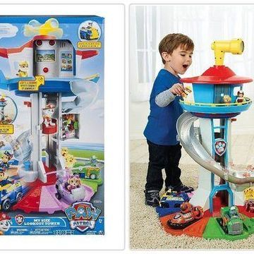 Paw Patrol My Size Lookout Tower with Exclusive Vehicle Rotating Periscope Light