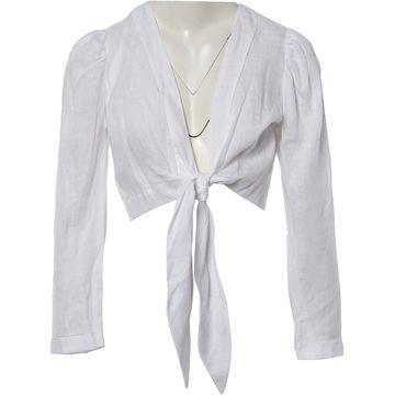 Lisa Marie Fernandez White Linen Tops