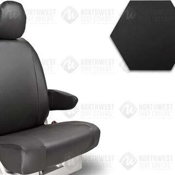 NorthWest WorkPro Hygienic Vinyl Seat Covers, 1st-Row Seat Covers in Black, B0