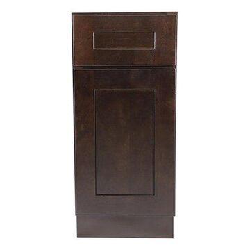 Design House 561928 Brookings Unassembled Shaker Base Kitchen Cabinet 15x34.5x24, Espresso