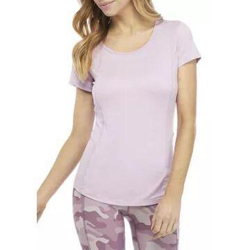 Rbx Women's Double Dye Round Neck T-Shirt - -