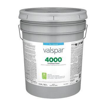 Valspar 4000 Flat High Hide White Interior Paint (5-Gallon)