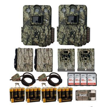 Browning Trail Cameras Command Ops Pro 16MP Game Cams (2-Pack) w/ Battery Bundle
