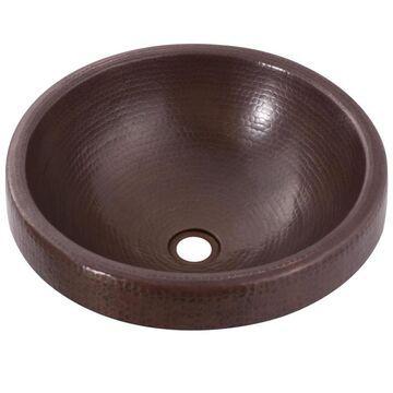 Novatto Granada Copper Copper Drop-In or Undermount Round Bathroom Sink (17-in x 17-in)