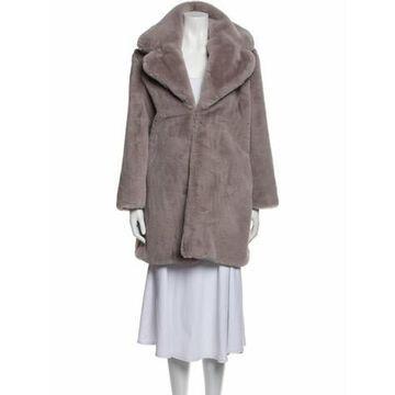 Faux Fur Coat Purple