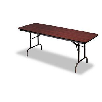 Iceberg Premium Wood Laminate Folding Table, Rectangular, ICE55234