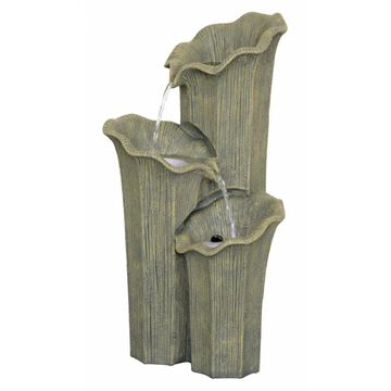 Design Toscano 25.5-in H Resin Tiered Outdoor Fountain in Green   SS12232