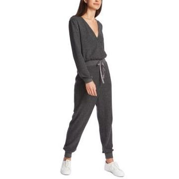 1.state Pull-On Waffle-Knit Jumpsuit