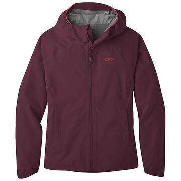 Outdoor Research Women's Motive Ascentshell Jacket - Medium - Burgundy