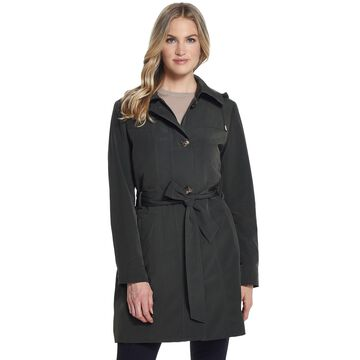 Women's Gallery Hooded Belted Trench Coat