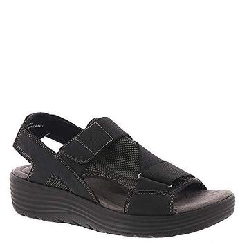 Earth Origins Womens Willow Genevieve Open Toe Casual Strappy, Black, Size 8.5