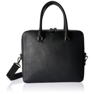 ''Royce Leather RFID Blocking Executive Travel Briefcase in Saffiano, Black''