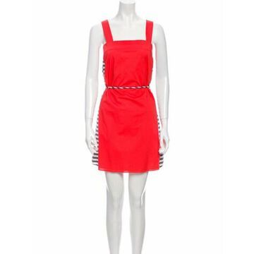 Square Neckline Mini Dress w/ Tags Red