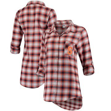 Women's Concepts Sport Navy/Orange Syracuse Orange Forge Rayon Flannel Long Sleeve Button-Up Shirt