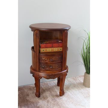 International Caravan Windsor Carved Telephone Stand