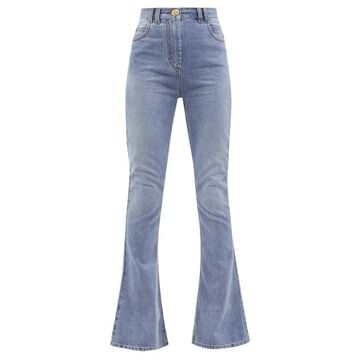 Balmain - High-rise Flared Jeans - Womens - Denim