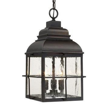 Lanier 3-light Old Bronze Outdoor Hanging Lantern