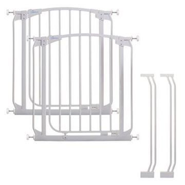 Dreambaby Chelsea Auto Close Stay Open Security Gate in White (Set of 2)