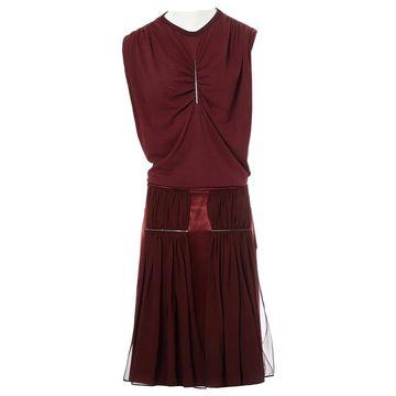 Christopher Kane Burgundy Viscose Skirts
