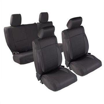 Smittybilt 471701 Seat Covers Black Neoprene For 13-15 Jeep JK Wrangler 4-Door