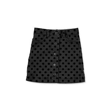 Stella McCartney Girls' Flocked Polka Dot Print Denim Skirt - Little Kid, Big Kid