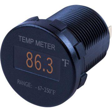 Sea-Dog 421610-1 No.39 Round OLED Temperature Meter Fahrenheit with 6 ft. Lead