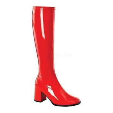 Funtasma Women's Gogo 300 Red Stretch Patent
