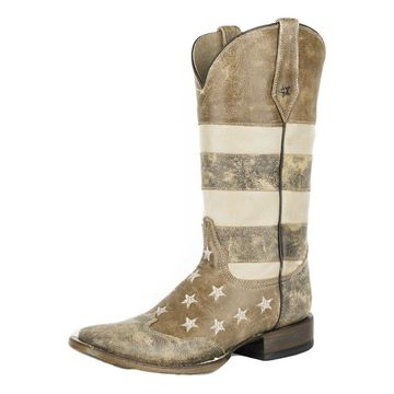 Roper Western Boots Womens American Brown 09-021-7001-0113 BR