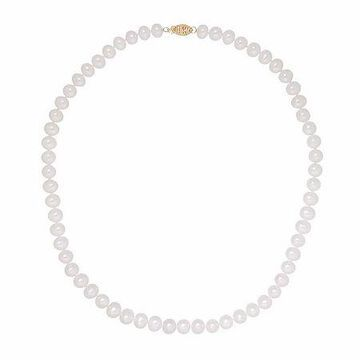 Sofia Certified Cultured Freshwater Pearl 7-7.5mm Strand Necklace in 14K Gold Family