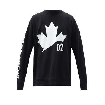 Dsquared2 - Logo-print Cotton-jersey Sweatshirt - Mens - Black