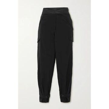 RtA - Dallas Cropped Shell Slim-fit Pants - Black