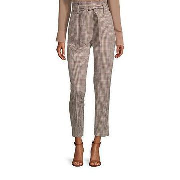 Worthington Womens Paperbag Belted Pant - Tall