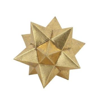 Benzara Gold Star Spike Decor