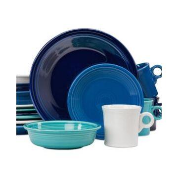 Fiesta Blues 16-Piece Dinnerware Set, Created for Macy's