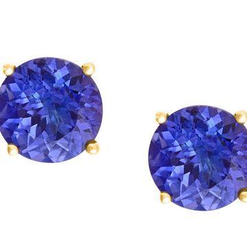 Premier 1.40 cttw Tanzanite Stud Earrings, 14KGold