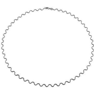 Fremada 14k White Gold Horizon Necklace