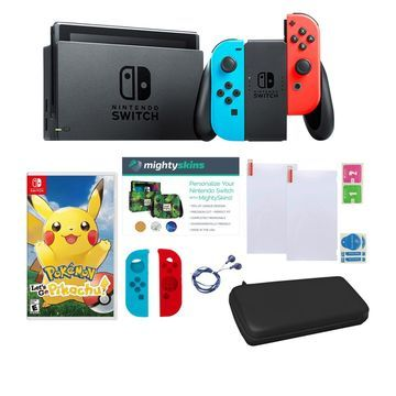 Nintendo Switch Console Bundle with Pokemon Lets Go Carrying Case
