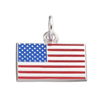 LogoArt Sterling Silver American Flag Pendant
