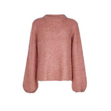 **Vila Pink Knitted Funnel Neck Jumper
