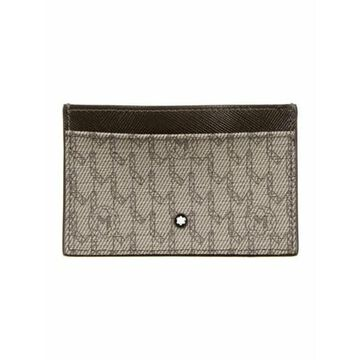 Coated Canvas Printed Wallet Grey
