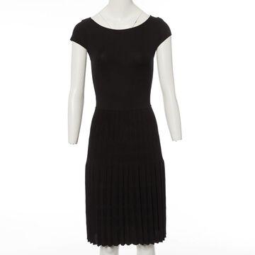 Valentino Black Polyester Dresses