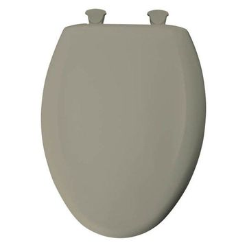 Bemis 1200SLOWT 052 Plastic Elongated Slow-Close Toilet Seat, Tender Grey
