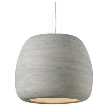 Tech Lighting Karam Pendant, Concrete Shade/White