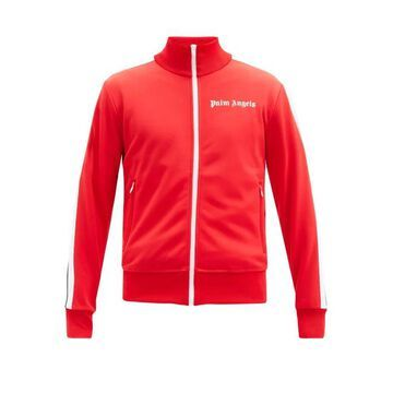Palm Angels - Logo-print Jersey Track Jacket - Mens - Red