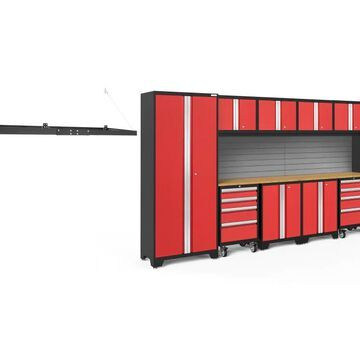 NewAge Products Bold Series 156-in W x 77.25-in H Deep Red Steel Garage Storage System | 51566