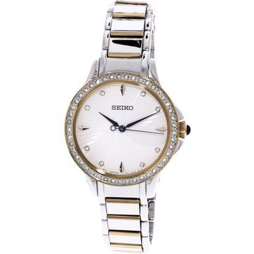 Seiko Women's SRZ486 Silver Stainless-Steel Quartz Dress Watch