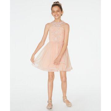 Big Girls Lace & Mesh Dress